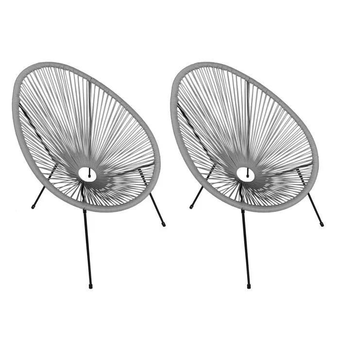fauteuil acapulco gris