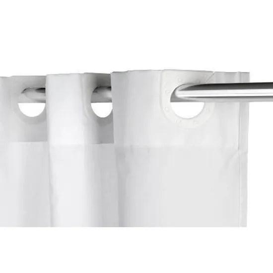 croydex rideau de douche en tissu sans crochets blanc