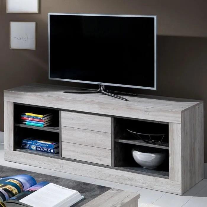 meuble tele contemporain couleur bois ovide gris l