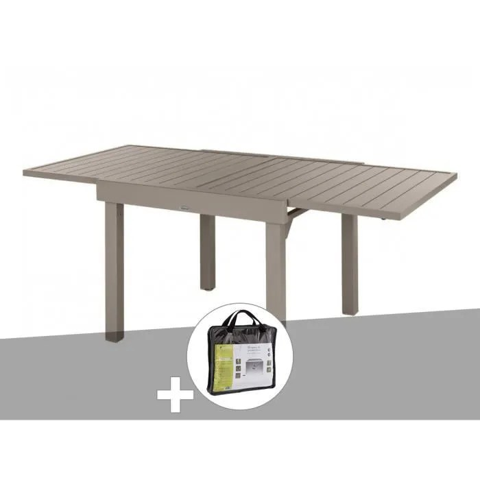 table extensible carree alu piazza 4 8