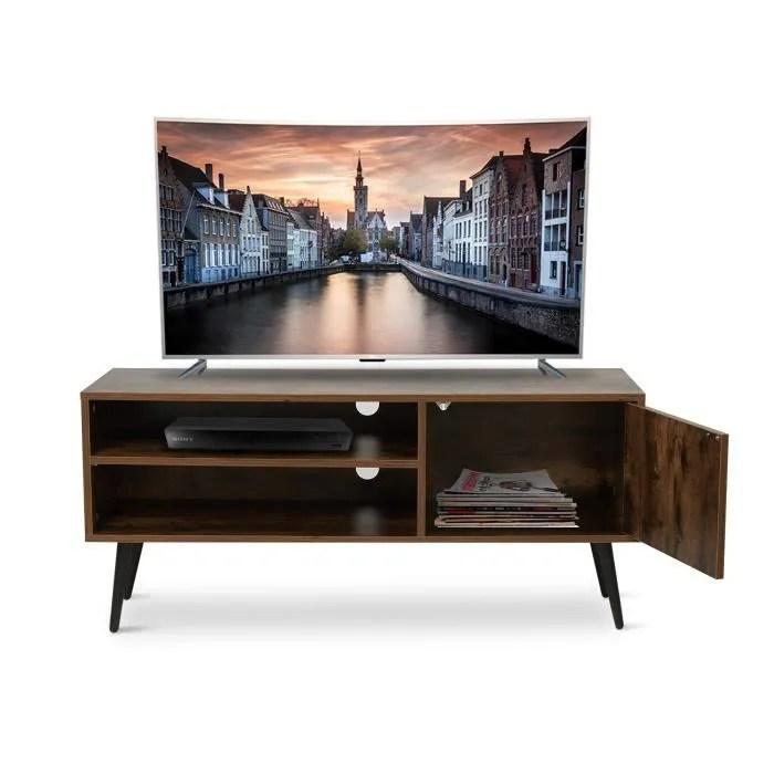 meuble tv en bois style industriel