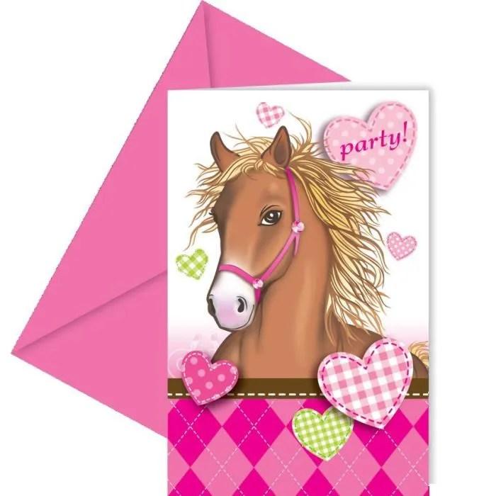 cartes d invitation anniversaire cheval joli co