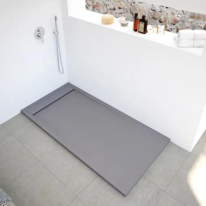 receveur de douche extra plat en resine et fibre d