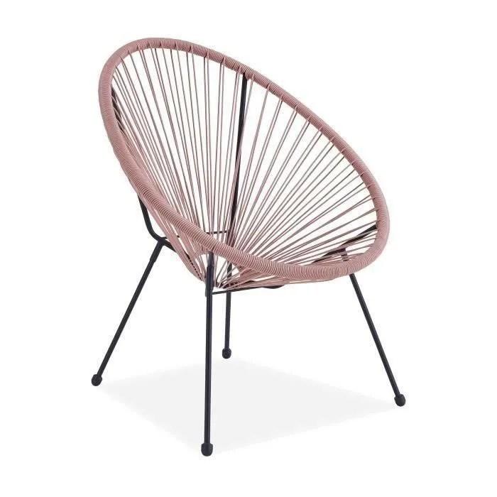 fauteuil design en forme d oeuf cordage en plast
