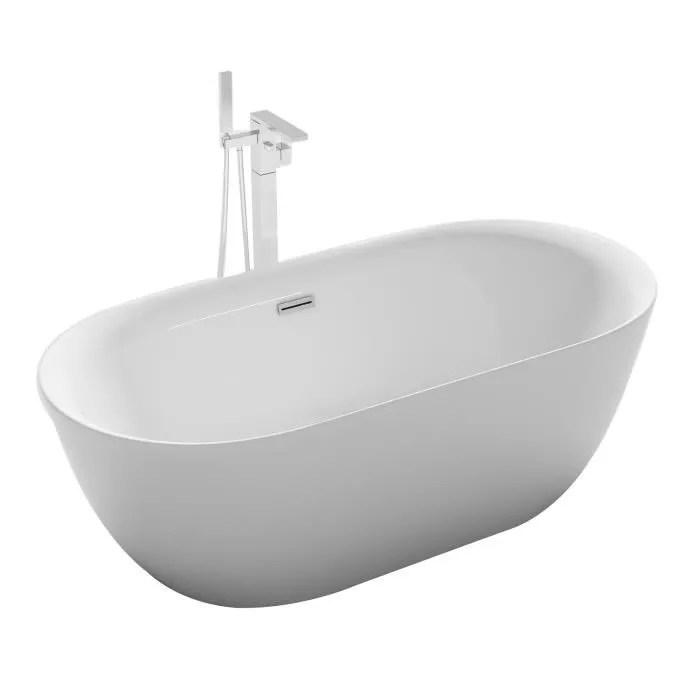 baignoire ilot ovale design 170x80 cm en acrylique