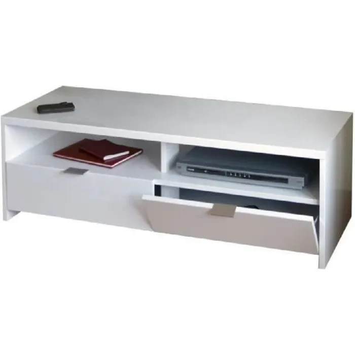 banco meuble tv contemporain blanc brillant l 11