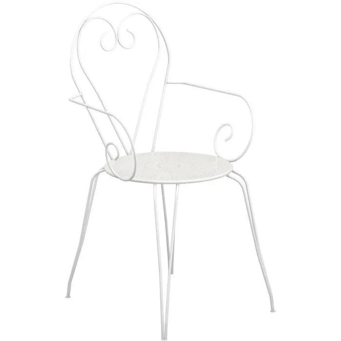 chaise de jardin en fer forge