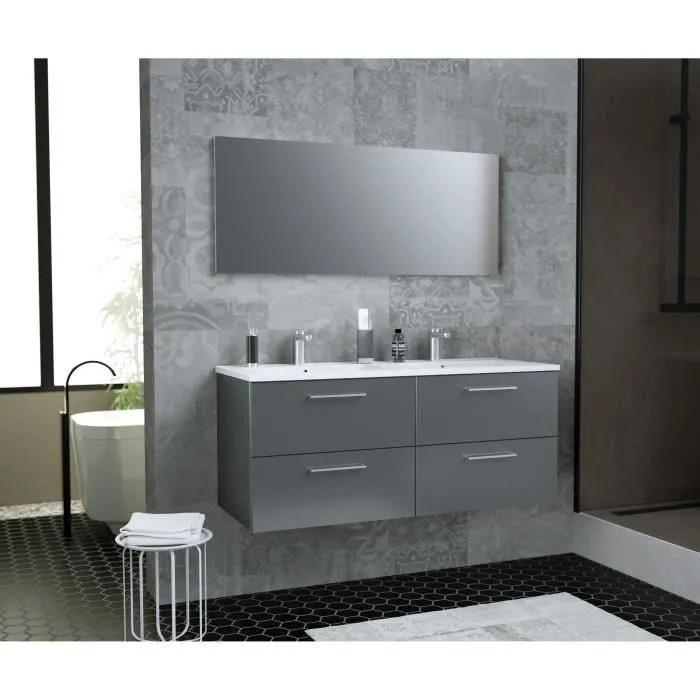 glossy meuble de salle de bain double vasque l 12