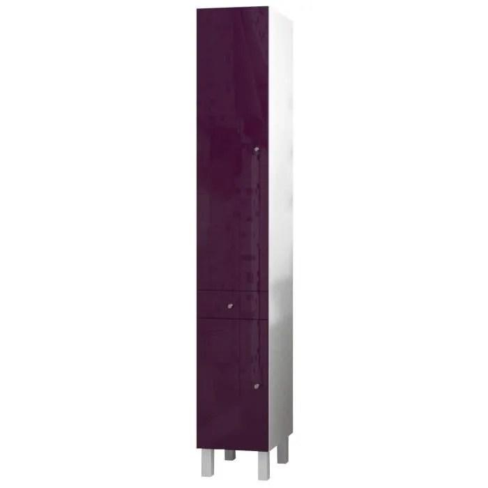 corail colonne de salle de bain l 30 cm aubergine laque