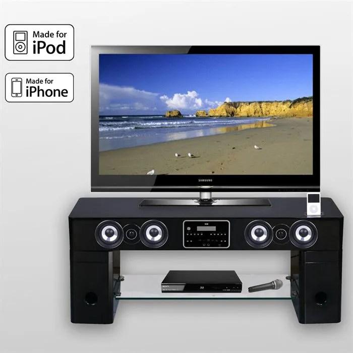 meuble tv barre de son station d