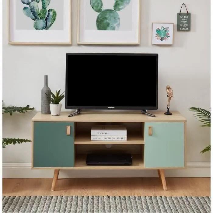 elise meuble tv 2 portes style
