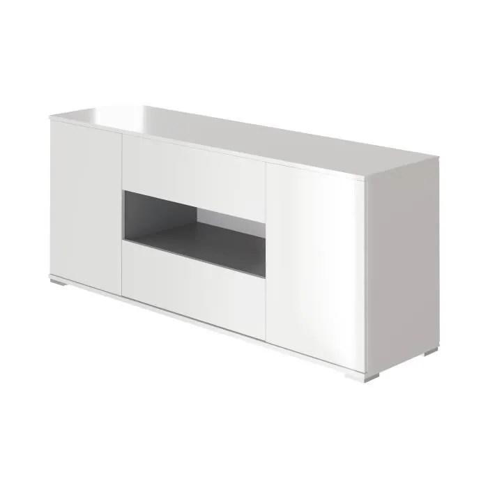 star meuble tv haut contemporain blanc