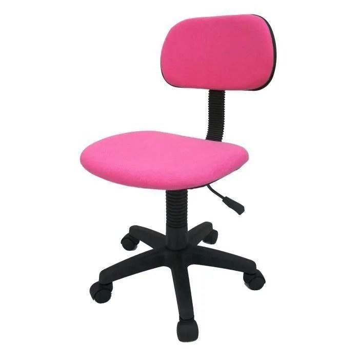chaise de bureau rose soldes cdiscount maison