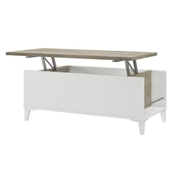 https www cdiscount com maison meubles mobilier table basse avec plateau relevable blanc chene f 11760010401 t38147pl11lvo html