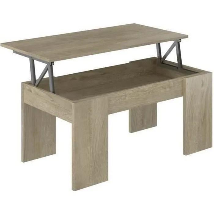 table basse plateau relevable