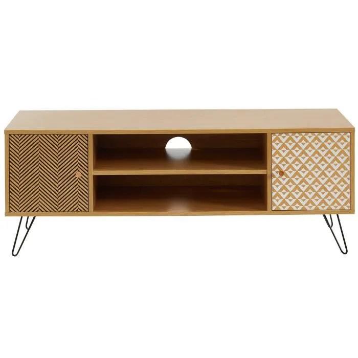 igor meuble tv vintage decor chene