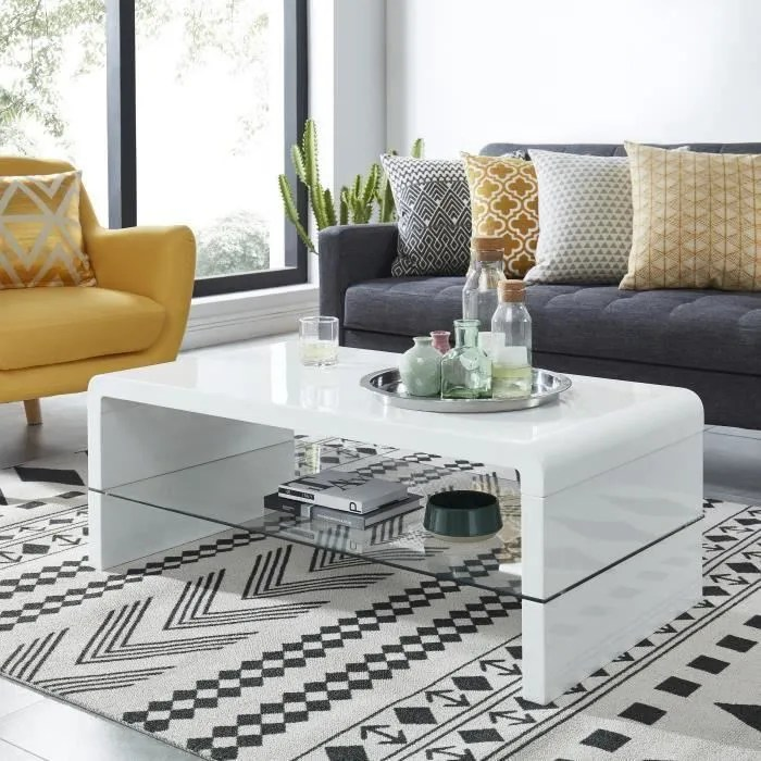 table basse laque