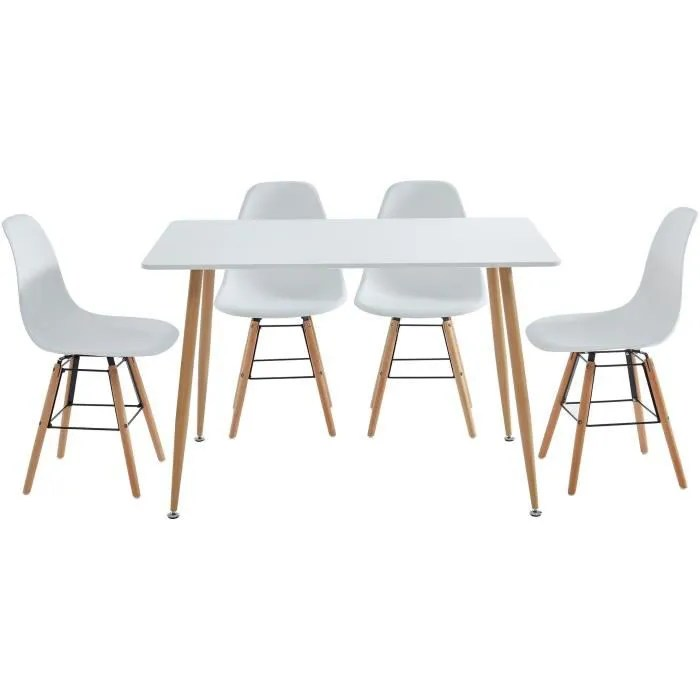 kittos ensemble table a manger 4 chaises laque