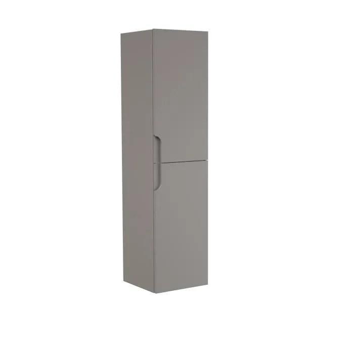 colonne de salle de bain 2 portes h 120 cm taupe rondo