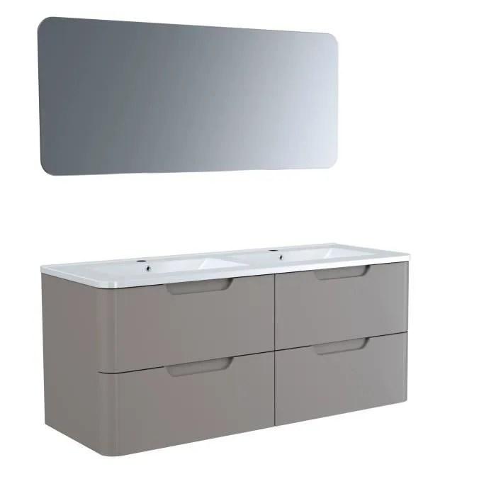 meuble de salle de bain taupe