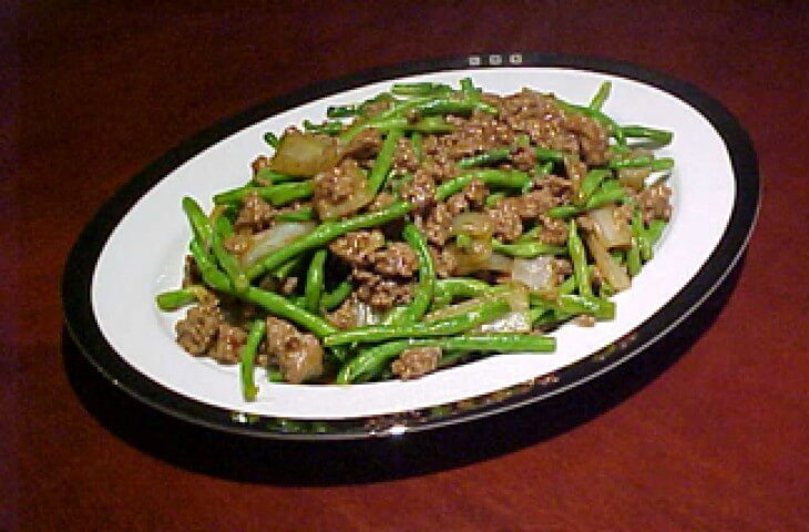 Chinese Long Beans With Ground Beef Recipe   CDKitchen.com