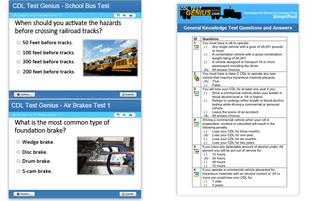 Florida CDL Practice Tests & Test Answers CDLTestGenius Com