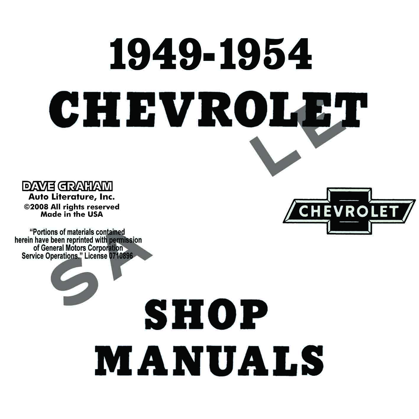 1949, 1950, 1951, 1952, 1953, 1954 CHEVROLET REPAIR MANUAL