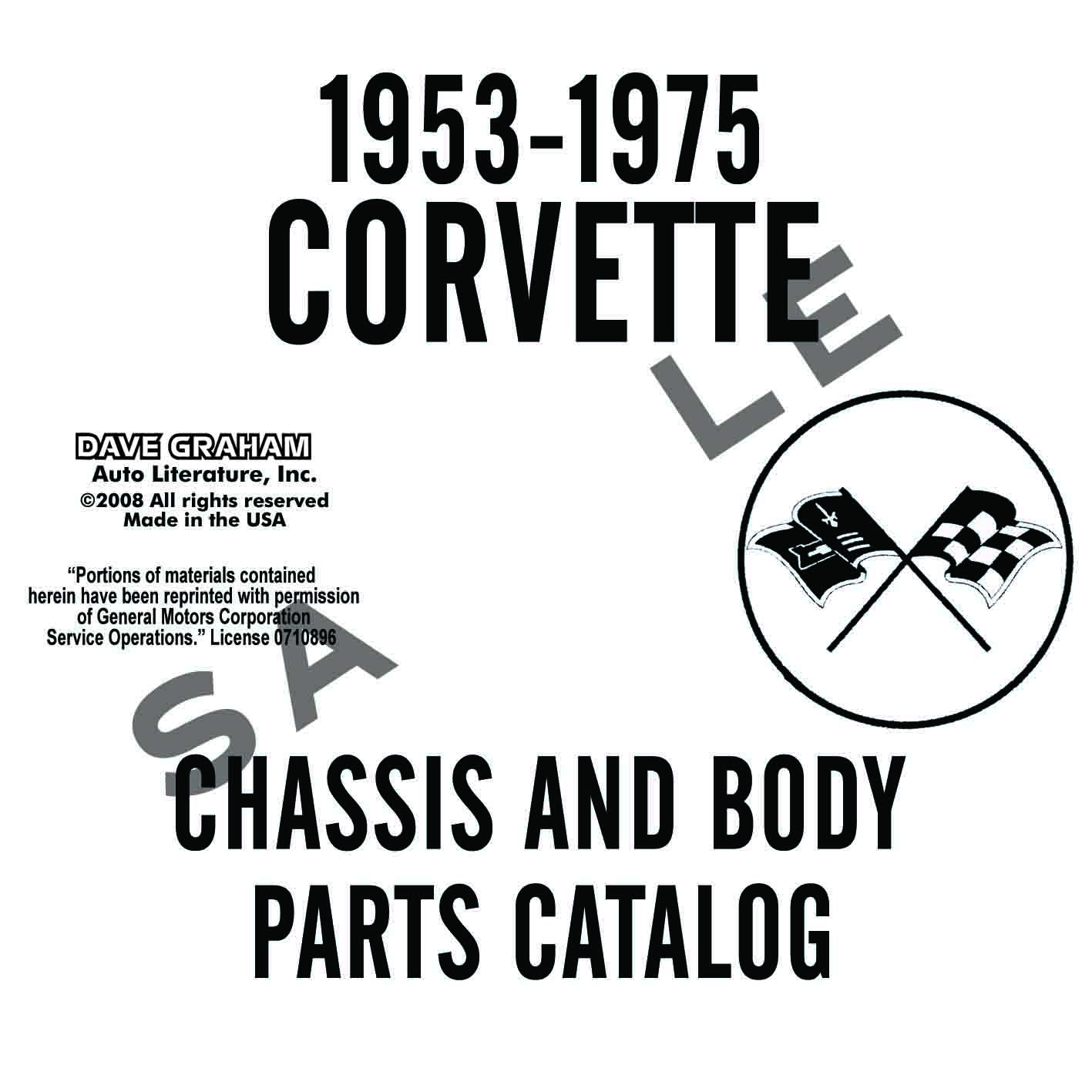 1953-1975 CORVETTE CHASSIS AND BODY PARTS MANUAL