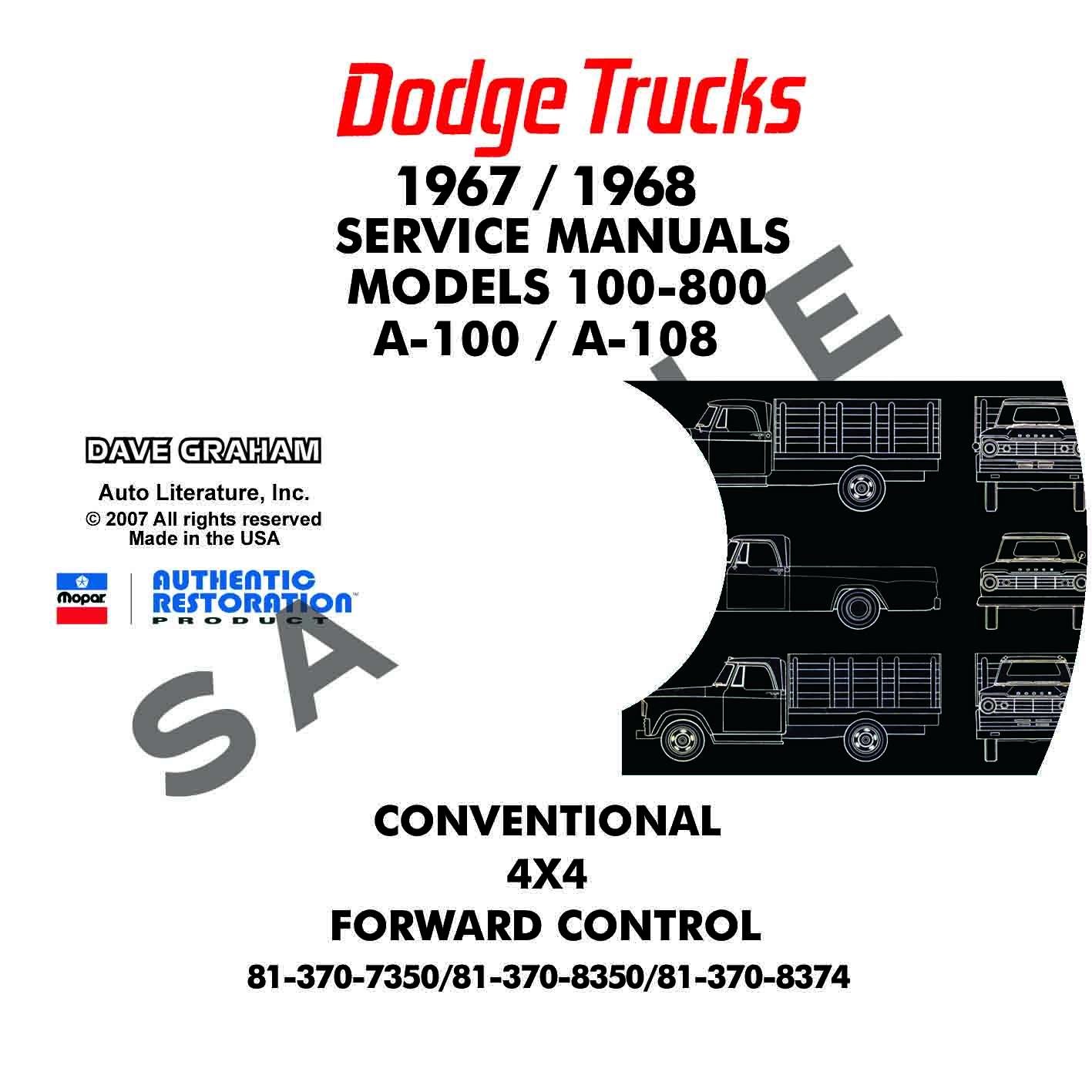 Dodge Truck Repair Manuals