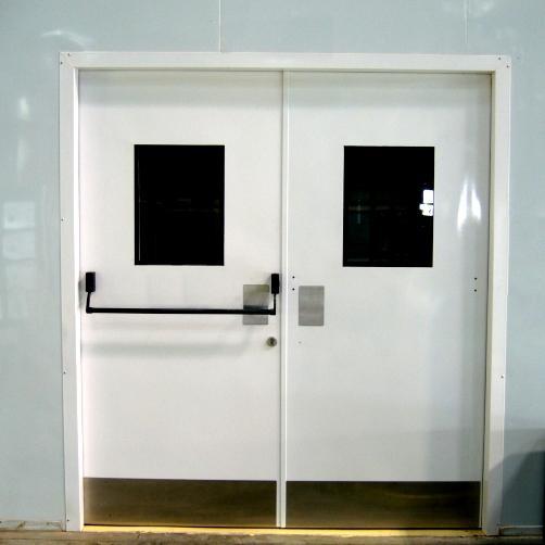 metal door with frame