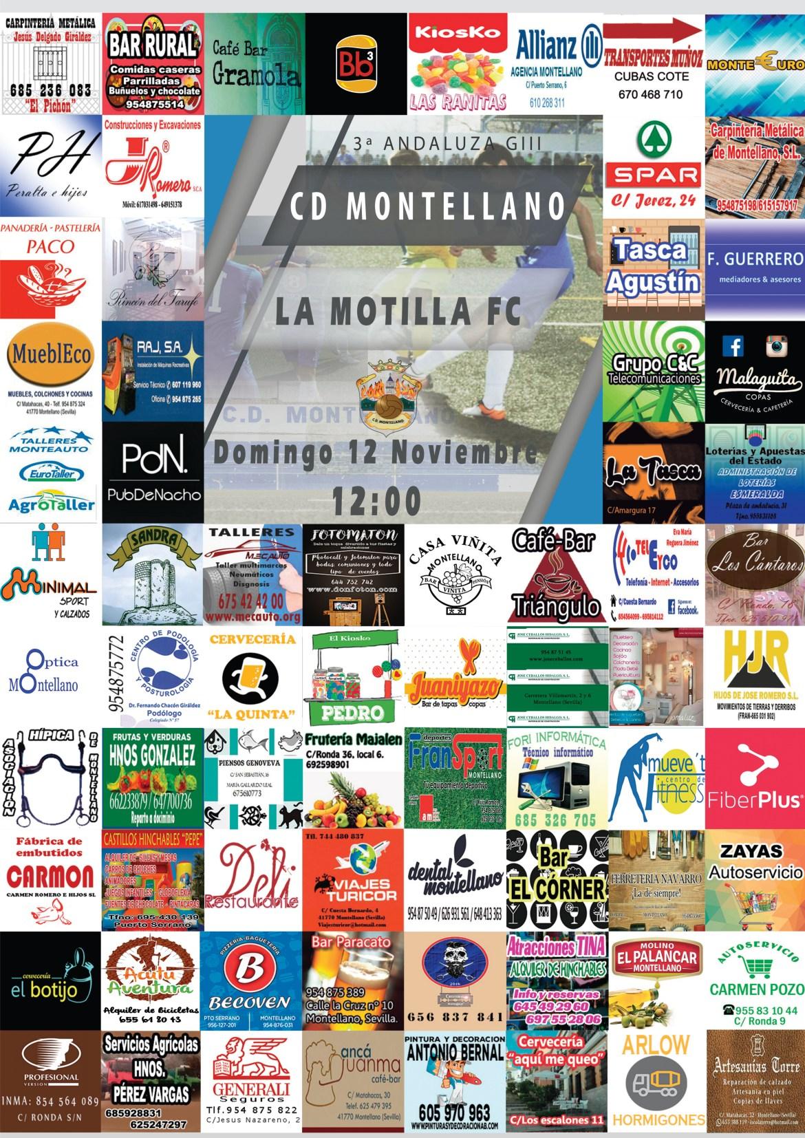 Cartel CD Montellano - La Motilla