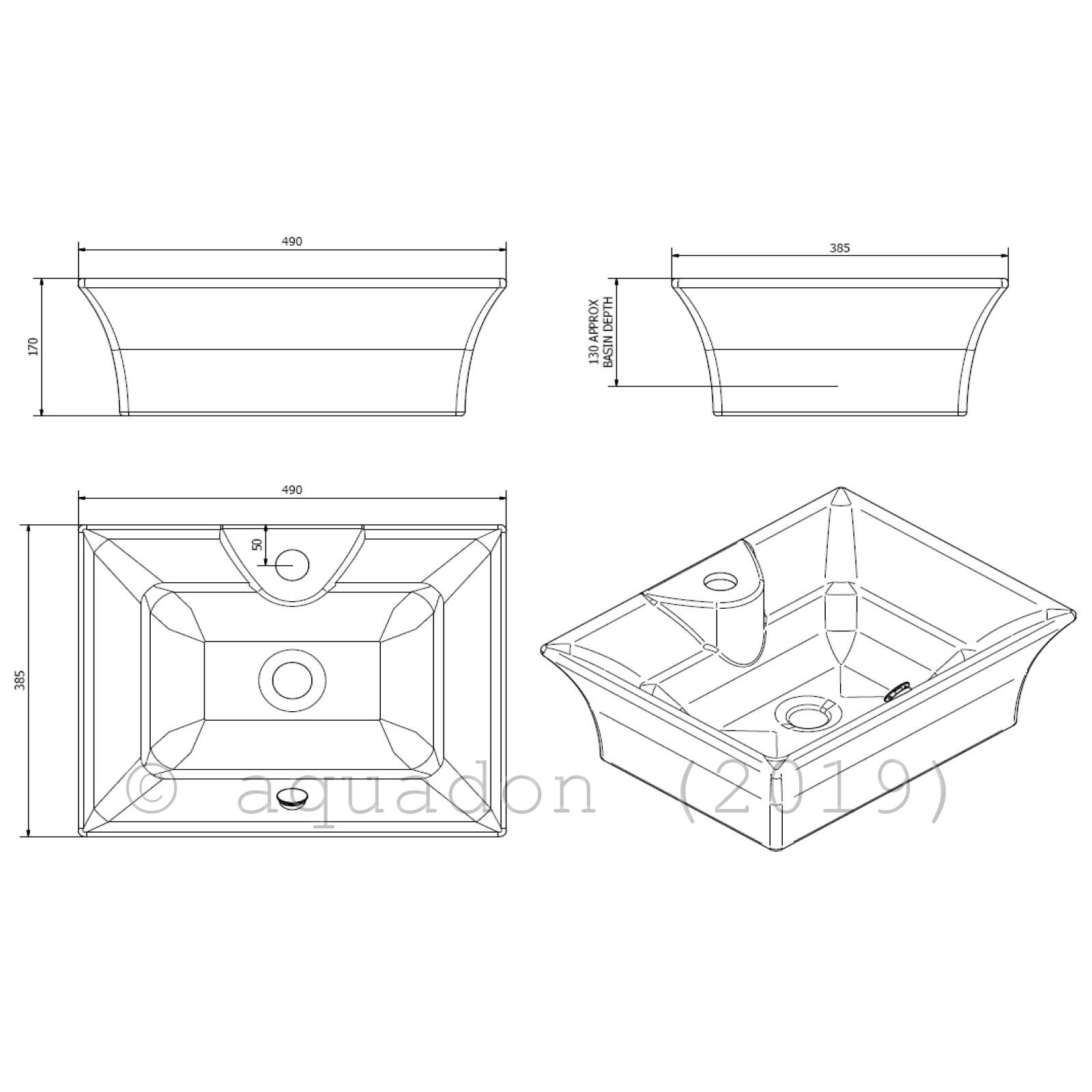 Vessel Basin Sink Floating Shelves Shelf Bathrooms White