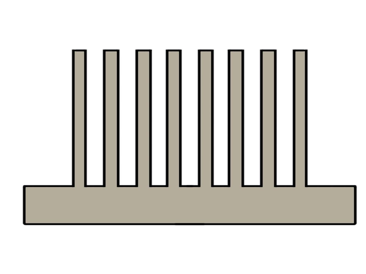 Extrusion process heat sinks