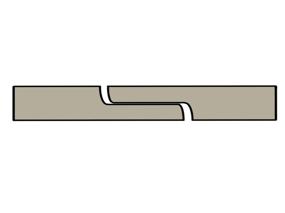 Extrusion process overlap joints