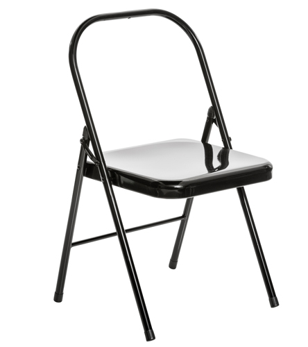 folding metal yoga chair stool crossword everyday backless at yogaoutlet com