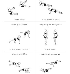 work your abs and obliques with these core exercises for women a 30 minute [ 736 x 2220 Pixel ]