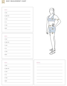 Print our free body measurement chart and measure each part every weeks get also fitness tracker rh spotebi