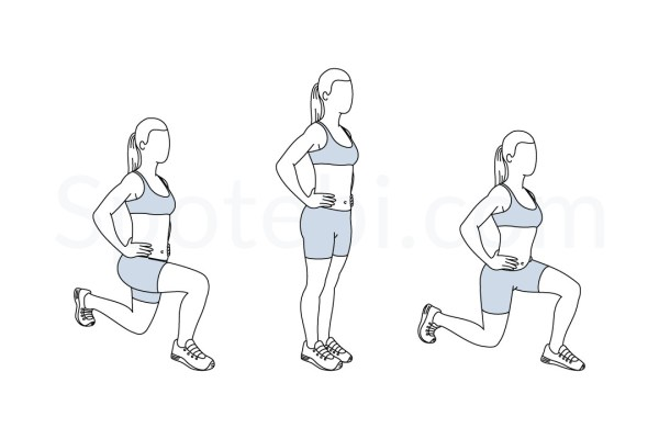 Front And Back Lunges Illustrated Exercise Guide