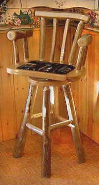 swivel chair no castors swing hammock stand log furniture from cdn antler :: custom and lights