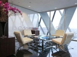 mesa centro cromada oficina