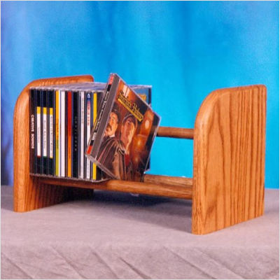 Solid Oak 1 Row Dowel Cd Rack