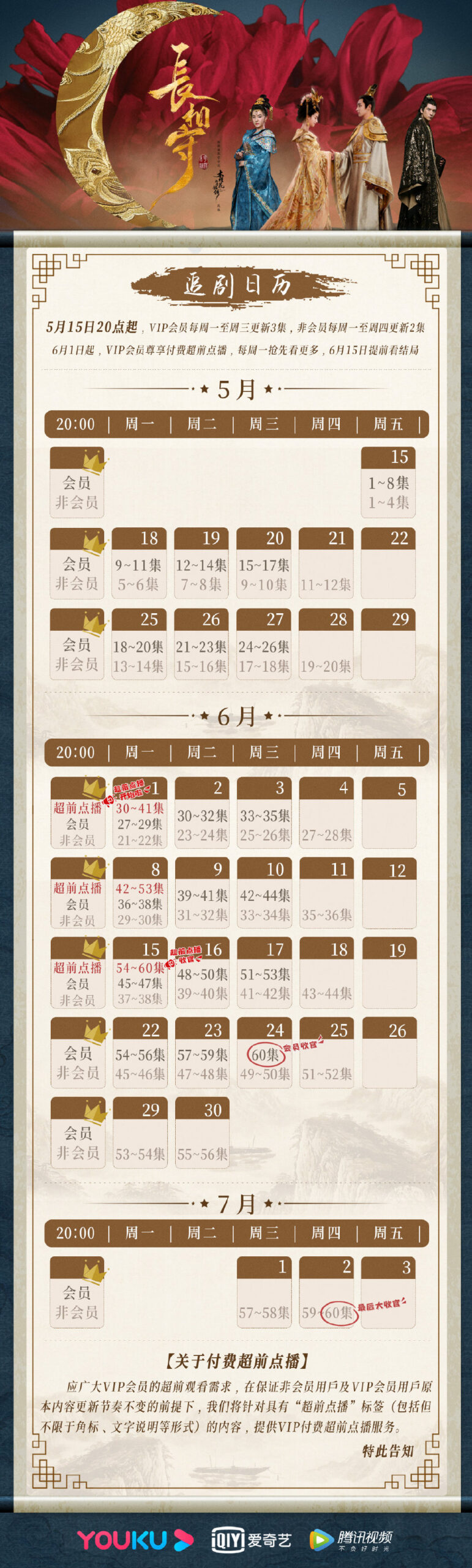 The Twin Flower Legend Airing Calendar
