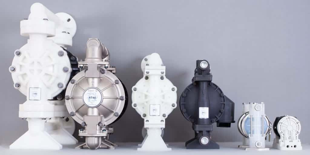 A selection of air operated diaphragm pumps offered by CDR Pumps alongside Ashton Pumps
