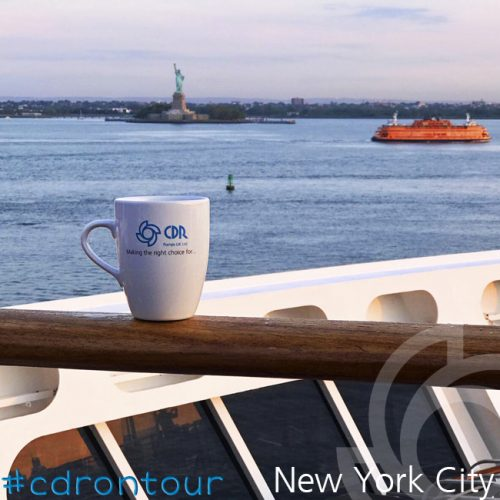 A quick pic of the CDR pumps mug approaching New York City with a nice view of Liberty Island and the Statue of Liberty