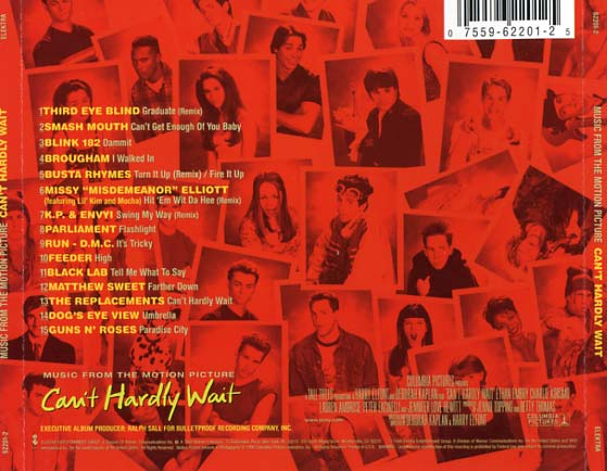 Cant Hardly Wait Soundtrack 1998 CD Sniper Reference