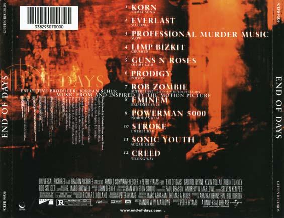 End of Days Soundtrack 1999  CD Sniper Reference