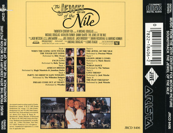 The Jewel of the Nile Soundtrack 1985  CD Sniper