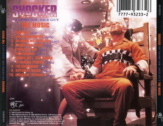 Shocker Soundtrack 1989  CD Sniper Reference Collection of Rare Movie Soundtracks