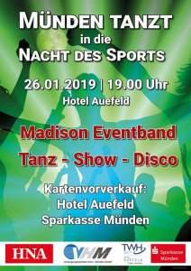 Münden tanzt in die Nacht des Sports @ Hotel Auefeld