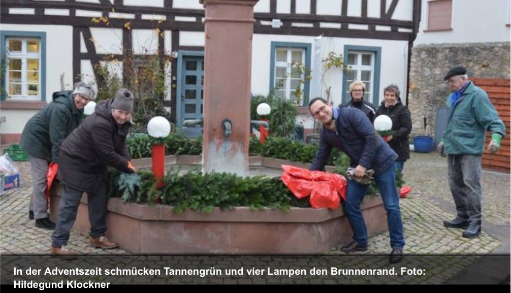 Main-Spitze: Kranz schmückt Tor zum Rheingau